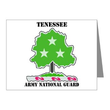 TNARNG - M01 - 02 - DUI - TENESSEE Army National Guard with text - Note Cards (Pk of 20)