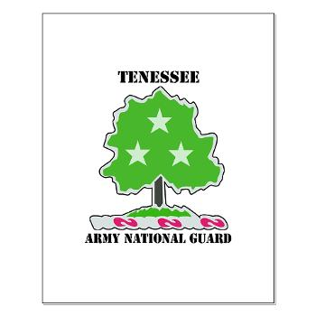 TNARNG - M01 - 02 - DUI - TENESSEE Army National Guard with text - Small Poster
