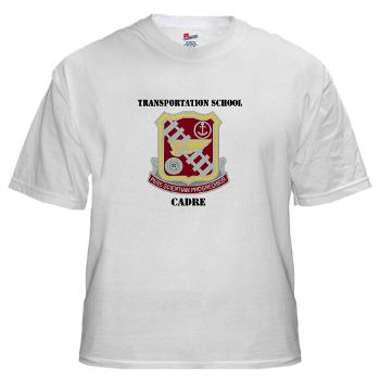 TSC - A01 - 04 - DUI - Transportation School - Cadre with Text White T-Shirt