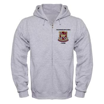 TSC - A01 - 03 - DUI - Transportation School - Cadre with Text Zip Hoodie