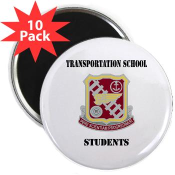 "TSS - M01 - 01 - DUI - Transportation School - Students with Text 2.25"" Magnet (10 pack)"