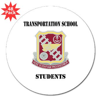 "TSS - M01 - 01 - DUI - Transportation School - Students with Text 3"" Lapel Sticker (48 pk)"