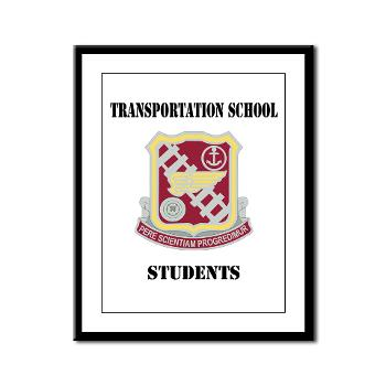 TSS - M01 - 02 - DUI - Transportation School - Students with Text Framed Panel Print