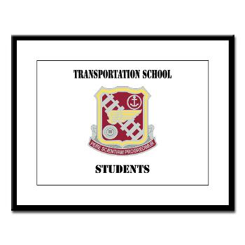 TSS - M01 - 02 - DUI - Transportation School - Students with Text Large Framed Print