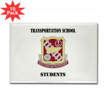 TSS - M01 - 01 - DUI - Transportation School - Students with Text Rectangle Magnet (10 pack)