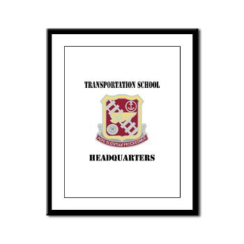 TSTSH - M01 - 02 - DUI - Transportation School - Headquarters with Text Framed Panel Print
