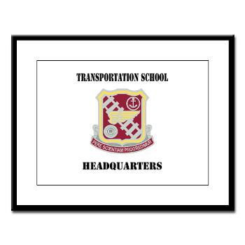 TSTSH - M01 - 02 - DUI - Transportation School - Headquarters with Text Large Framed Print