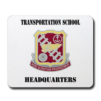 TSTSH - M01 - 03 - DUI - Transportation School - Headquarters with Text Mousepad
