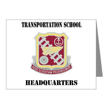 TSTSH - M01 - 02 - DUI - Transportation School - Headquarters with Text Note Cards (Pk of 20)