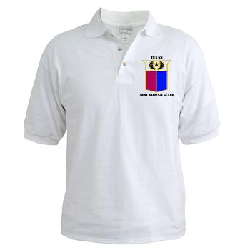 TXARNG - A01 - 04 - DUI - Texas Army National Guard with Text - Golf Shirt