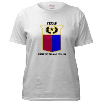 TXARNG - A01 - 04 - DUI - Texas Army National Guard with Text - Women's T-Shirt