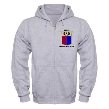 TXARNG - A01 - 03 - DUI - Texas Army National Guard with Text - Zip Hoodie