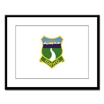 UI - M01 - 02 - SSI - ROTC - University of Idaho - Large Framed Print