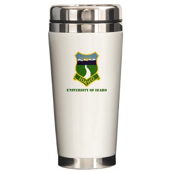 UI - M01 - 03 - SSI - ROTC - University of Idaho with Text - Ceramic Travel Mug