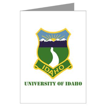 UI - M01 - 02 - SSI - ROTC - University of Idaho with Text - Greeting Cards (Pk of 20)
