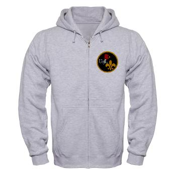 UL - A01 - 03 - SSI - ROTC - University of Louisville - Zip Hoodie