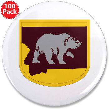 "UM - M01 - 01 - SSI - ROTC - University of Montana - 3.5"" Button (100 pack)"