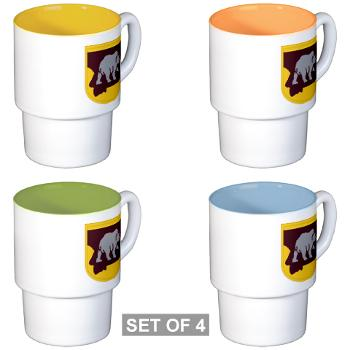 UM - M01 - 03 - SSI - ROTC - University of Montana - Stackable Mug Set (4 mugs)