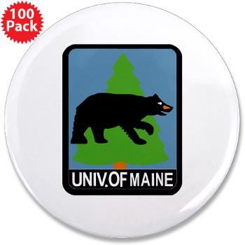 "UM - M01 - 01 - University of Maine - 3.5"" Button (100 pack)"