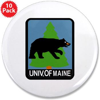 "UM - M01 - 01 - University of Maine - 3.5"" Button (10 pack)"