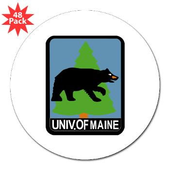 "UM - M01 - 01 - University of Maine - 3"" Lapel Sticker (48 pk)"