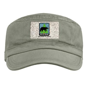 UM - A01 - 01 - University of Maine with Text - Military Cap