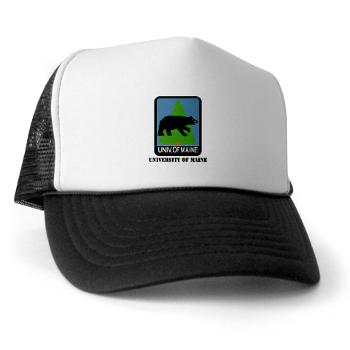 UM - A01 - 02 - University of Maine with Text - Trucker Hat