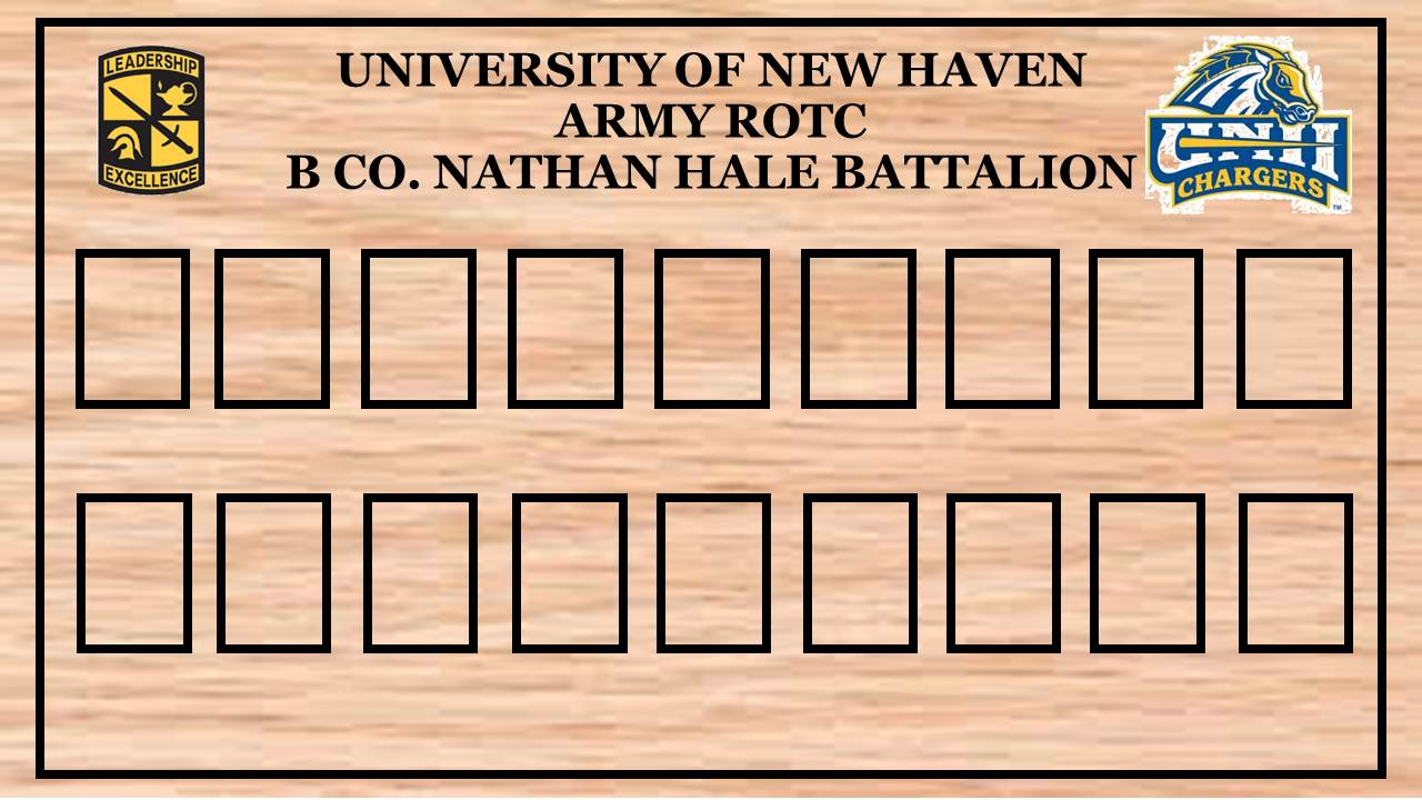 Command Display - B CO. Nathan Hale Battalion