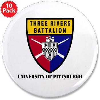 "UP - M01 - 01 - SSI - ROTC - University of Pittsburgh - 3.5"" Button (10 pack)"
