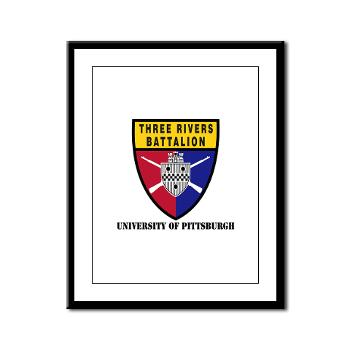 UP - M01 - 02 - SSI - ROTC - University of Pittsburgh with Text - Framed Panel Print