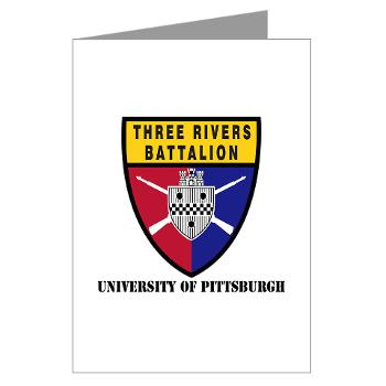 UP - M01 - 02 - SSI - ROTC - University of Pittsburgh with Text - Greeting Cards (Pk of 10)