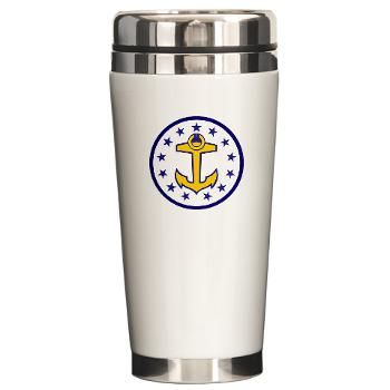 URI - M01 - 03 - SSI - ROTC - University of Rhode Island - Ceramic Travel Mug