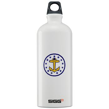 URI - M01 - 03 - SSI - ROTC - University of Rhode Island - Sigg Water Bottle 1.0L