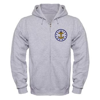 URI - A01 - 03 - SSI - ROTC - University of Rhode Island - Zip Hoodie
