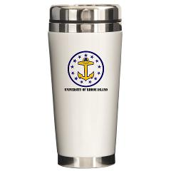 URI - M01 - 03 - SSI - ROTC - University of Rhode Island with Text - Ceramic Travel Mug