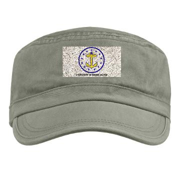 URI - A01 - 01 - SSI - ROTC - University of Rhode Island with Text - Military Cap