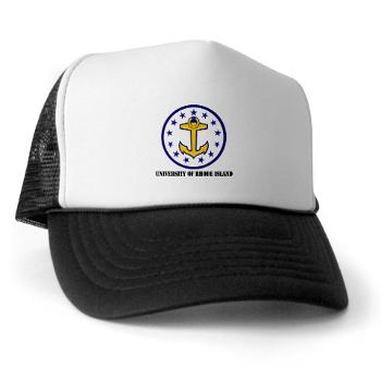 URI - A01 - 02 - SSI - ROTC - University of Rhode Island with Text - Trucker Hat