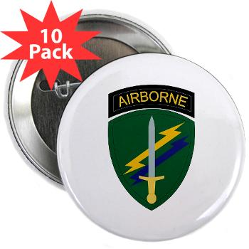 "USACAPOC - M01 - 01 - SSI - US Army Civil Affairs and Psychological Ops Cmd 2.25"" Button (10 pack)"