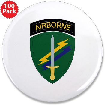 "USACAPOC - M01 - 01 - SSI - US Army Civil Affairs and Psychological Ops Cmd 3.5"" Button (100 pack)"