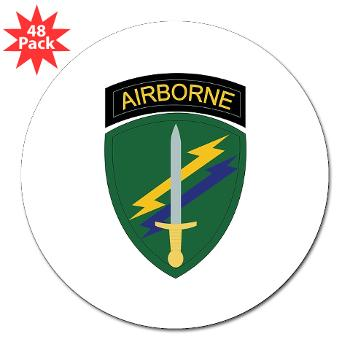 "USACAPOC - M01 - 01 - SSI - US Army Civil Affairs and Psychological Ops Cmd 3"" Lapel Sticker (48 pk)"