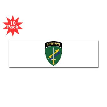 USACAPOC - M01 - 01 - SSI - US Army Civil Affairs and Psychological Ops Cmd Sticker (Bumper 10 pk)