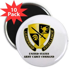 "USACC - M01 - 01 - DUI - US Army Cadet Command with Text 2.25"" Magnet (10 pack)"