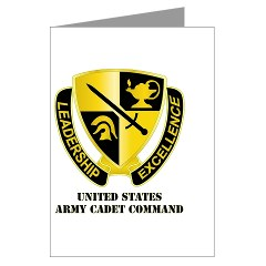 USACC - M01 - 02 - DUI - US Army Cadet Command Greeting Cards (Pk of 20)