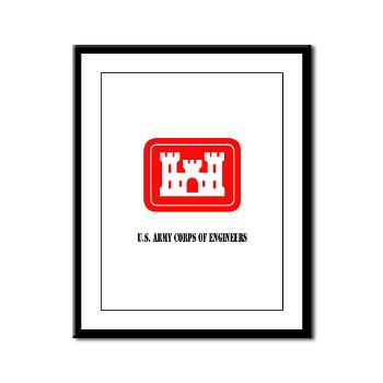 USACE - M01 - 02 - U.S. Army Corps of Engineers (USACE) with Text - Framed Panel Print
