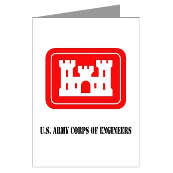 USACE - M01 - 02 - U.S. Army Corps of Engineers (USACE) with Text - Greeting Cards (Pk of 20)