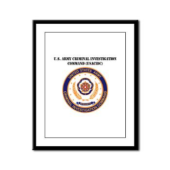 USACIDC - M01 - 02 - U.S. Army Criminal Investigation Command (USACIDC) with Text - Framed Panel Print