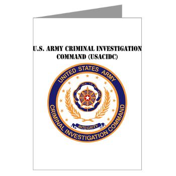 USACIDC - M01 - 02 - U.S. Army Criminal Investigation Command (USACIDC) with Text - Greeting Cards (Pk of 20)