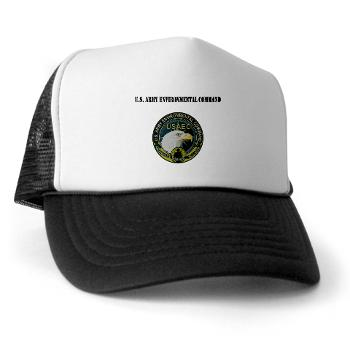 USAEC - A01 - 02 - U.S. Army Environmental Command with Text - Trucker Hat