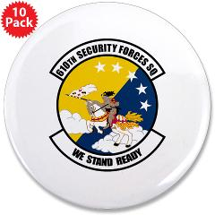 "USAF610SS - M01 - 01 - DUI - 610th Security Force Squadron - 3.5"" Button (10 pack)"