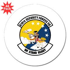"USAF610SS - M01 - 01 - DUI - 610th Security Force Squadron - 3"" Lapel Sticker (48 pk)"